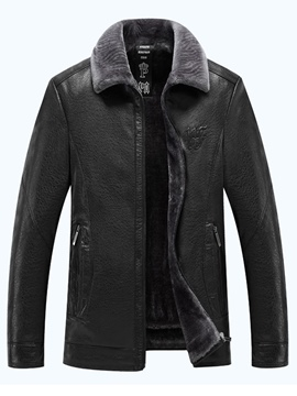 Ericdress Lapel Thincken Leather Men's Winter Coat