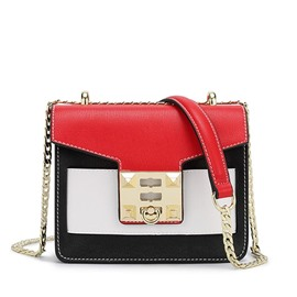 Ericdress Trendy Color Block Lock Decoration Crossbody Bag