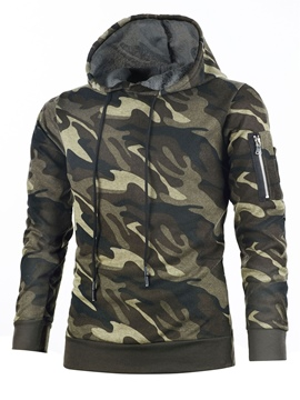 Ericdress Camouflage Pullover Vogue Men's Hoodie