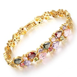 Ericdress AAA Zircon Golorful Zircon 18K Gold Plating Bracelet for Women