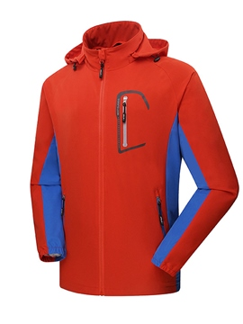 Ericdress Color Block Straight Zipper Men's Windproof