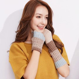 Ericdress Foldable Knitting Wool Touch-Screen Women's Gloves