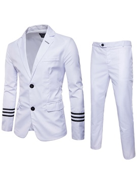 Ericdress Notched Lapel Stripe Men's Casual Suit