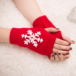 Ericdress Snowflake Christmas Elegant Women's Gloves