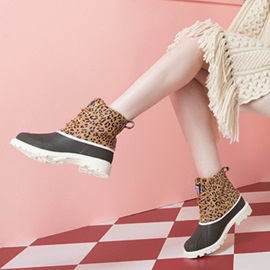 Ericdress New Arrival Leopard Lace-Up Women's Snow Boots