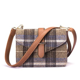 Ericdress Casual Plaid Pattern Crossbody Bag