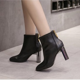 Ericdress Fashion Square Toe Plain High Heel Boots