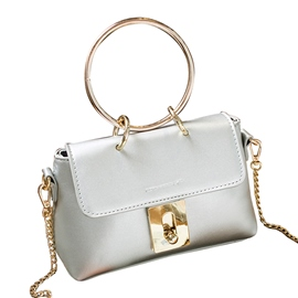 Ericdress Cirque Ring Handle Chain Crossbody Bag
