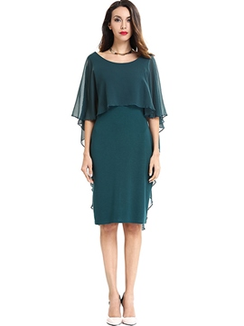 Ericdress Batwing Sleeve Pencil Knee-Length Sheath Dress