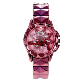 Ericdress Fancy Stainless Steel Ultra Violet Quartz Watch for Women