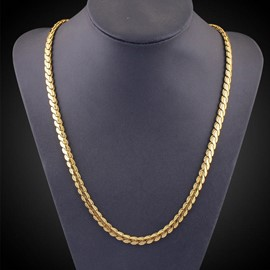 ericdress best seller 18k plaqué or hommes collier