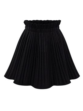 Ericdress Pleated Thick Women's Mini Skirt