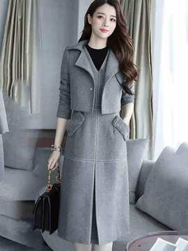 Ericdress Thick Jacket and Dress Women's Suit