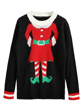 Ericdress Christmas Santa Claus Ugly Sweater