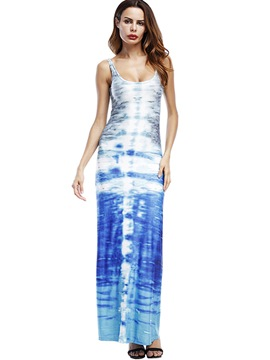 Ericdress Ankle-Length Print Straight Maxi Dress