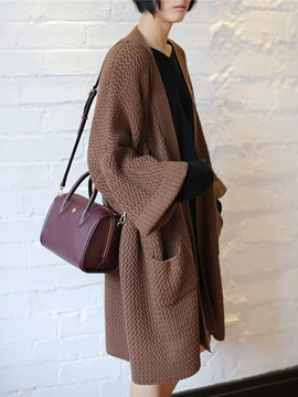 Ericdress Oversized Thick Mid-Length Cardigan Sweater