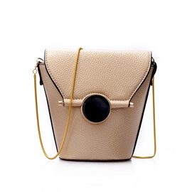 Ericdress Bucket Shape Chain Crossbody Bag