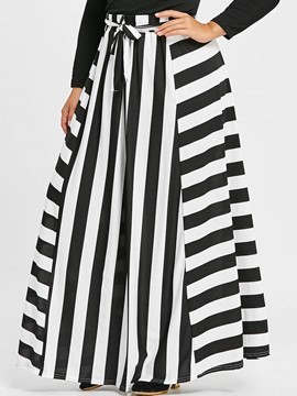 Ericdress Stripe A-Line Women's Skirt