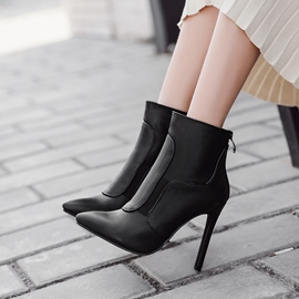 Ericdress Fashion Pointed Toe Plain Stiletto Heel Women's Boots