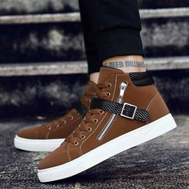 Ericdress Cool Buckle Patchwork Plain Men's Sneakers