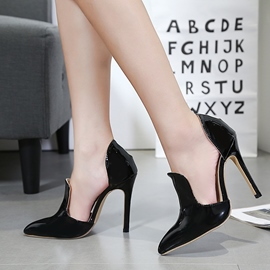 Ericdress PU Slip-On Plain Stiletto Heel Pumps