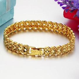 Ericdress Luxurious 18K Gold Plating Men's Bracelet