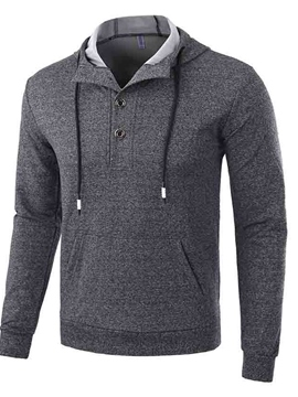 Ericdress Pullover Lace-Up Men's Hoodie