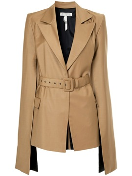 Ericdress Plain Notched Lapel Flare Sleeve Jacket