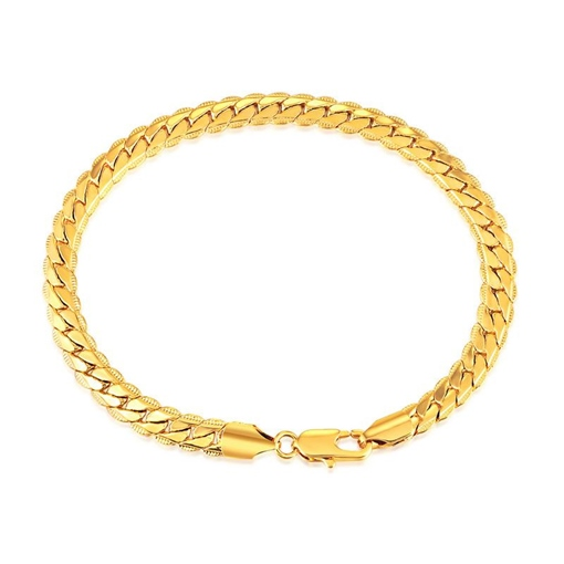 Ericdress Concise 18K Gold Plating Wheat Men's Bracelet