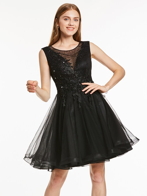 Ericdress A-Line Appliques Beading Sashes Mini Homecoming Dress