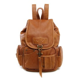 Ericdress Solid Color Soft PU Women Backpack