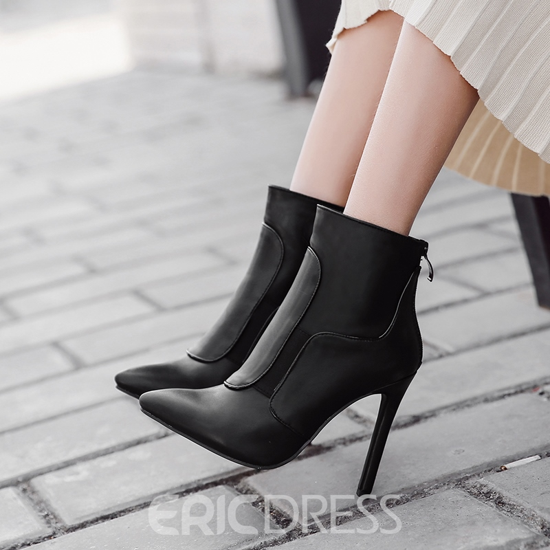 Ericdress Fashion Pointed Toe Plain Stiletto Heel Womens Boots