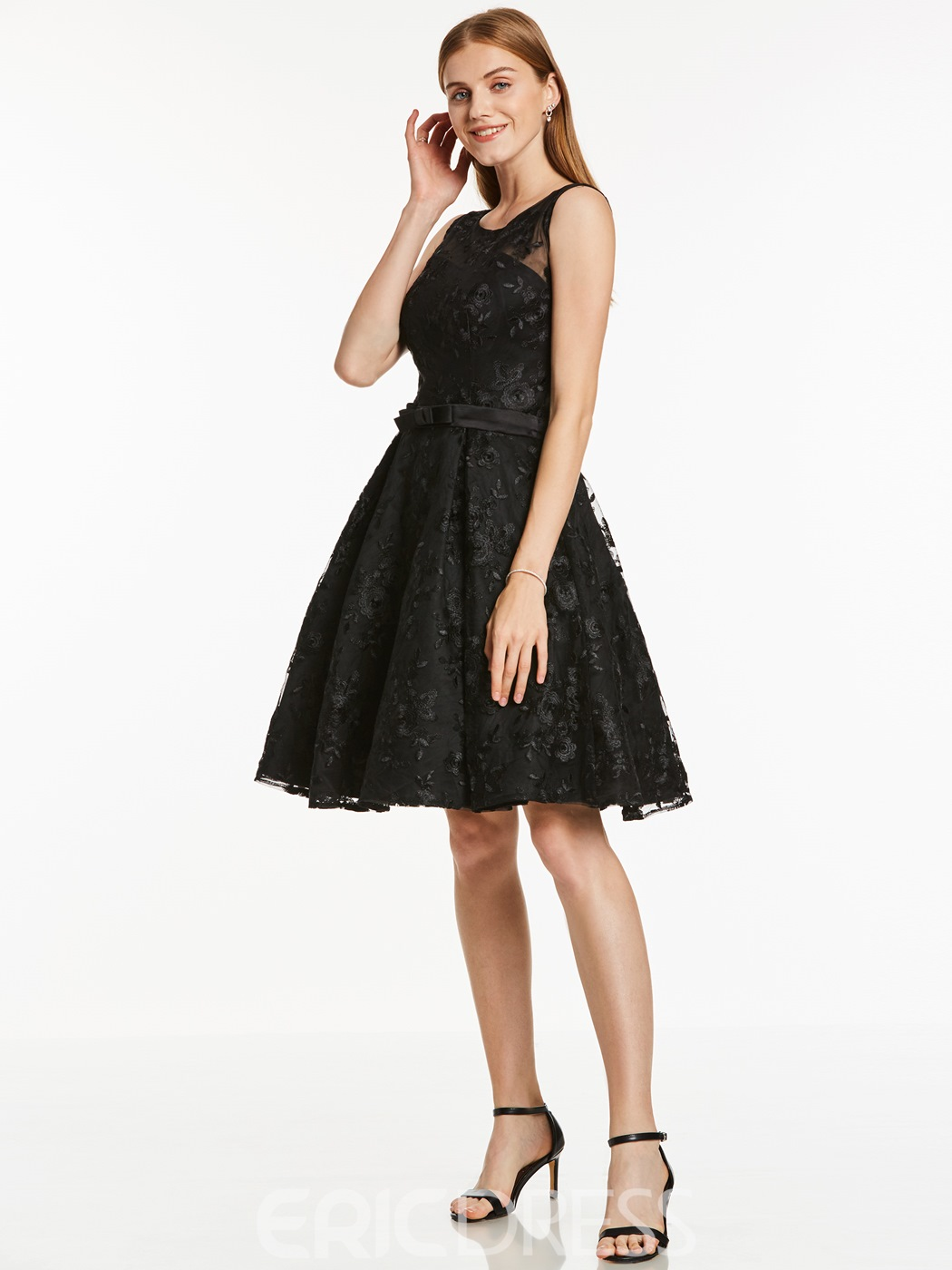Ericdress Short A Line Scoop Neck Lace Homecoming Dress
