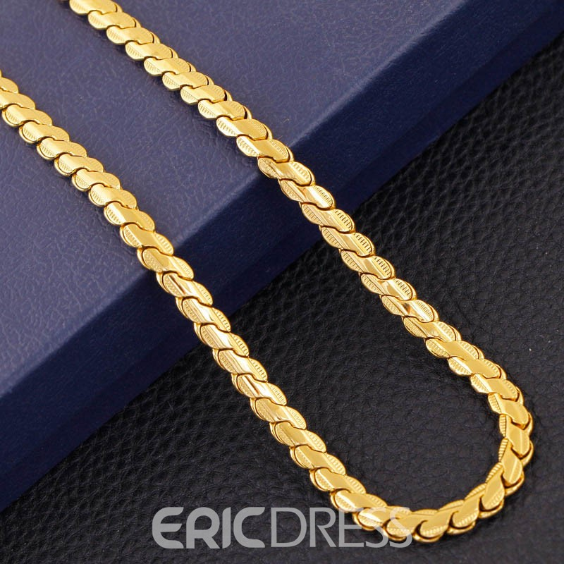 Ericdress Best Seller 18K Gold Plating Men's Necklace