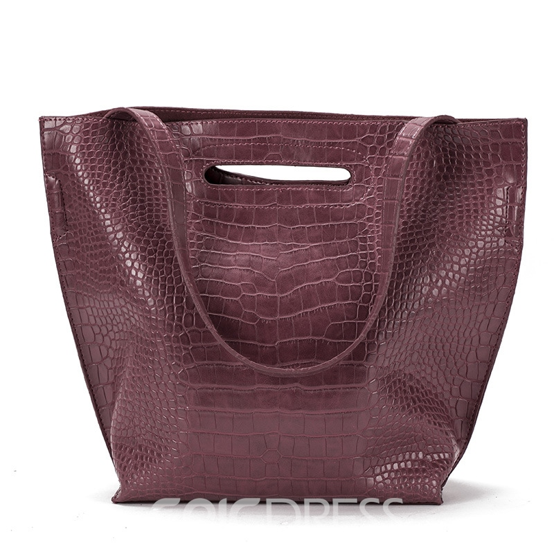 Ericdress Croco-Embossed Women Tote Bag