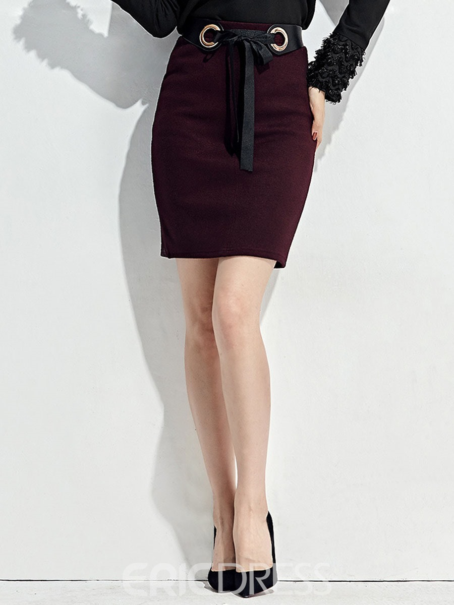 Ericdress Lace-Up Bodycon Women's Skirt