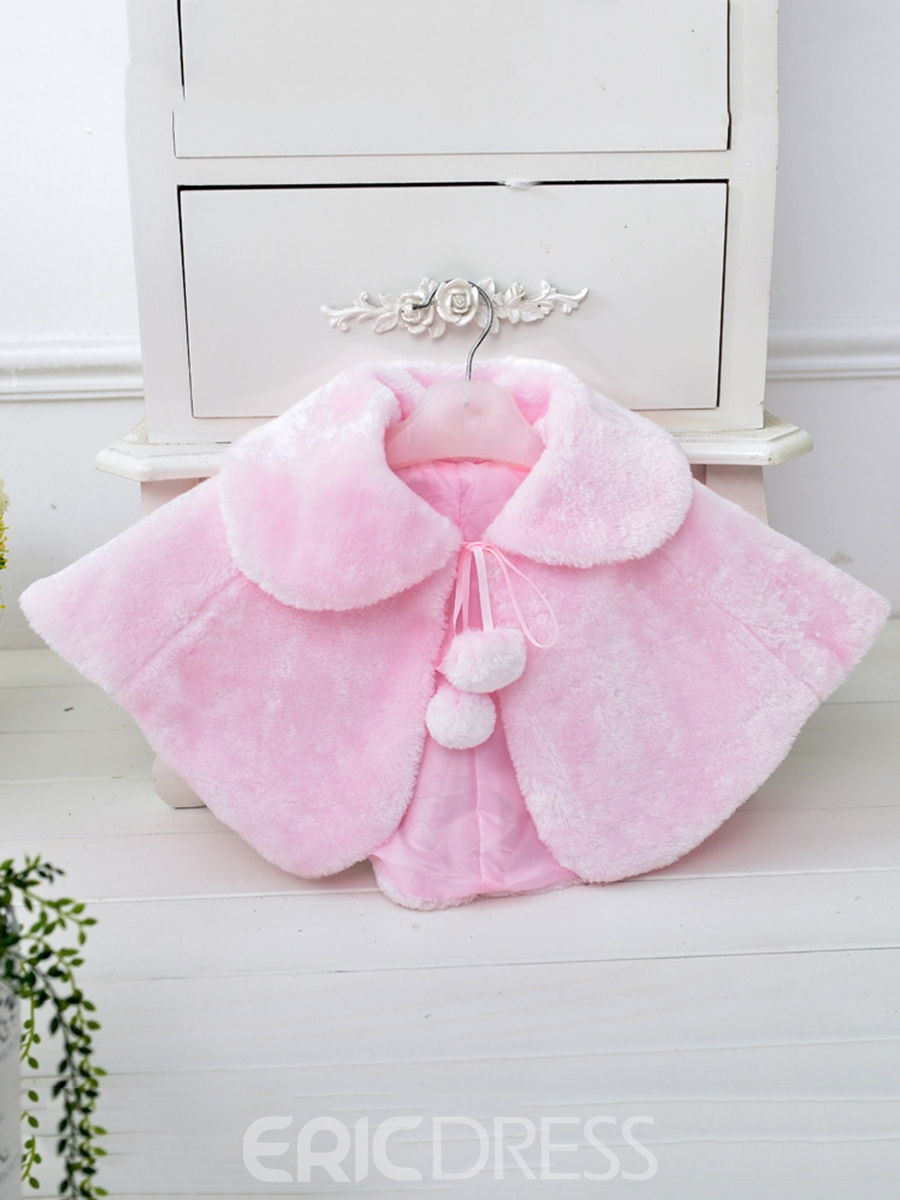Ericdress Plain Lapel Warmth Girl's Shawl
