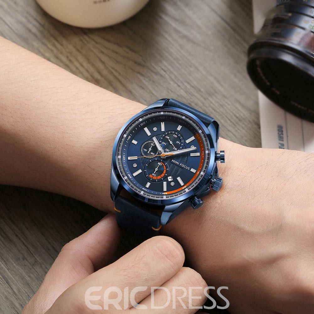 Ericdress JYY Trendy Round Case Men's Watch with Calendar