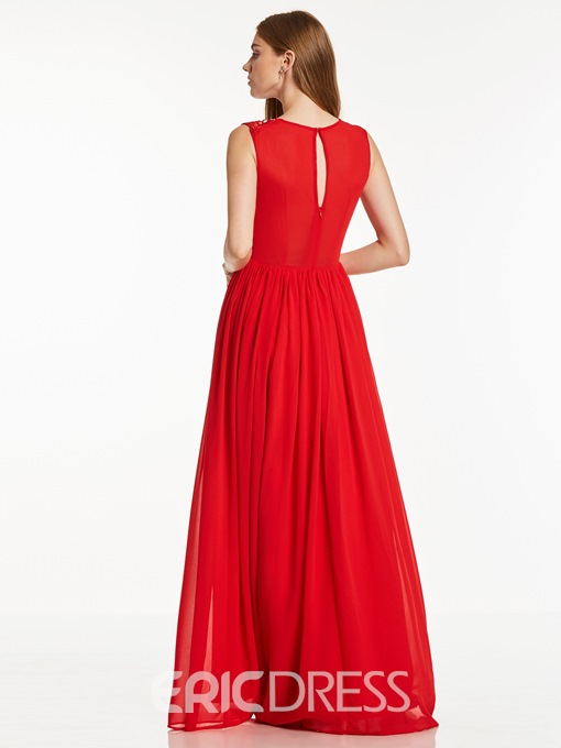 Ericdress V Neck Beaded A Line Evening Dress