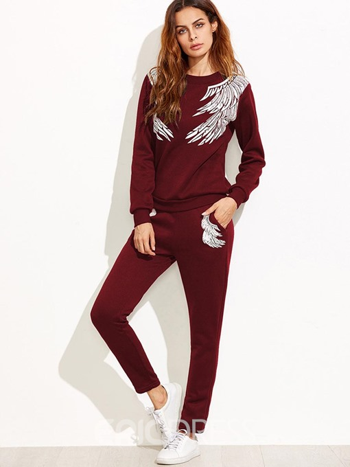 Ericdress Hoodie and Ankle Length Pants Women's Two Piece Set