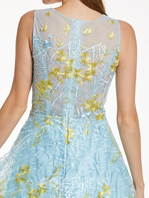 Ericdress Scoop Neck Zipper-Up Appliques A Line prom dress