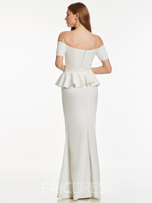 Ericdress Off-the-Shoulder Zipper-Up Mermaid Evening Dress