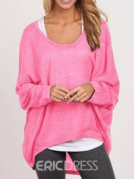 Ericdress Thin Asymmetric Batwing Sleeve Knitwear