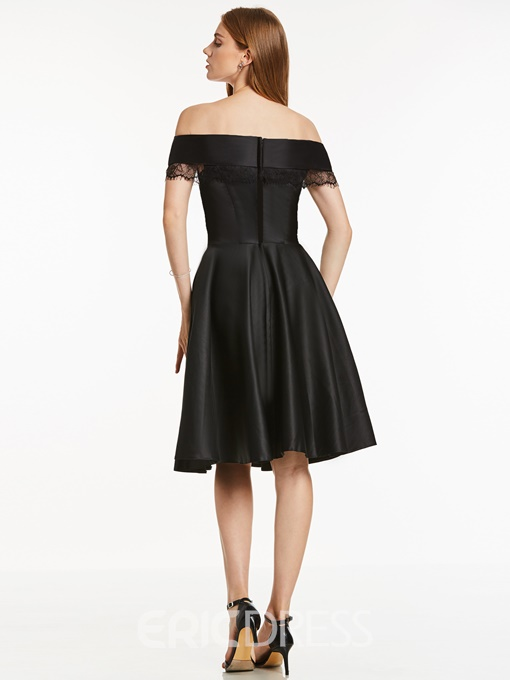 Ericdress Off-the-Shoulder Zipper-Up A Line Homecoming Dress