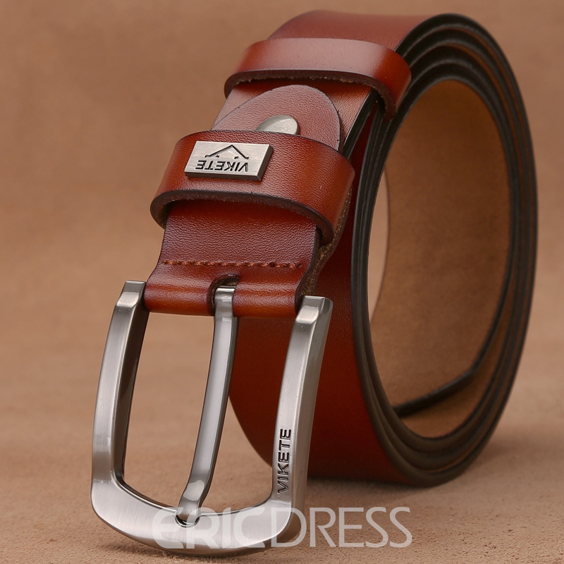 Ericdress High End Men's Genuine Leather Pin Buckle Belt