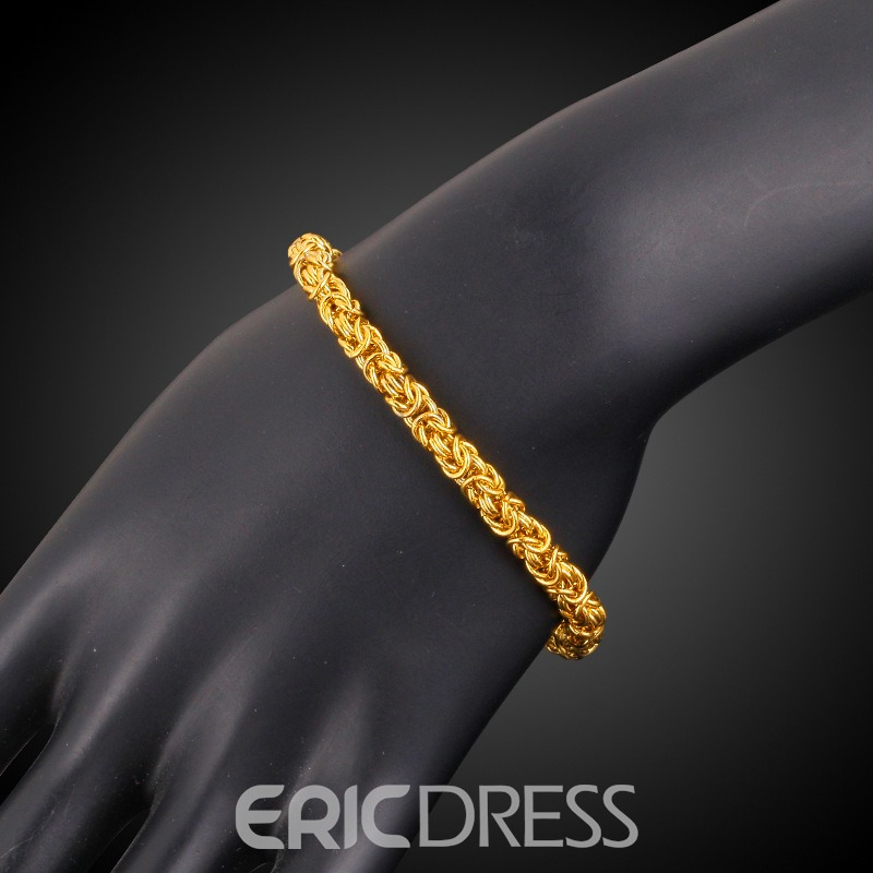 Ericdress Twist18K Gold Plating Bracelet for Men