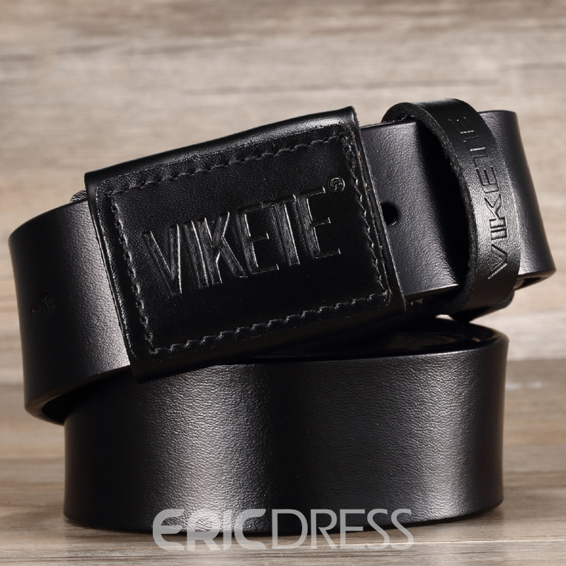 Ericdress Cowhide Pin Buckle Men's Genuine Leather Belt