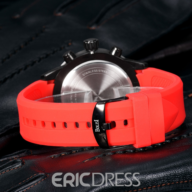 Ericdress JYY Concise Silica Gel Outdoor Waterproof Men's Watch