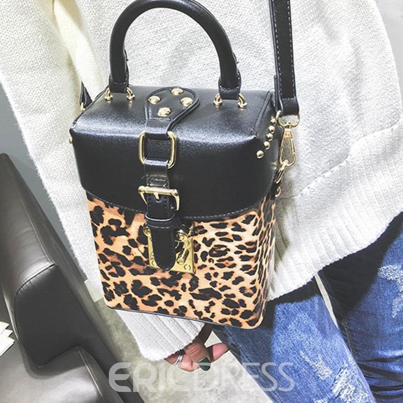 Ericdress Personality Leopard Pattern PU Shoulder Bag