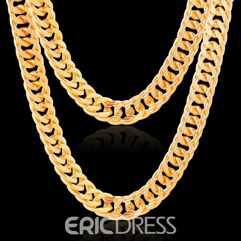 Ericdress Jakotsu Chain 18K Gold Plating Men's Necklace